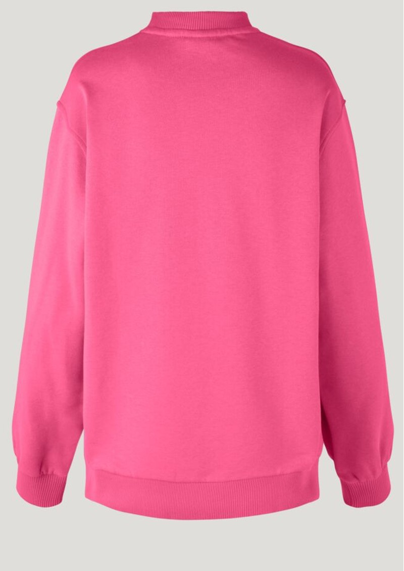 BAUM UND PFERDGARTEN Jimi Organic Cotton Sweater - Hot Pink main image