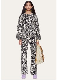STINE GOYA Dianne Top - Zebra Black