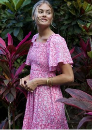 PINK CITY PRINTS Lolita Organic Cotton Dress - Rose Retro