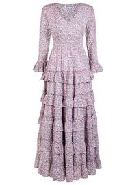 PINK CITY PRINTS Barcelona Organic Cotton Dress - Ditzy Glade