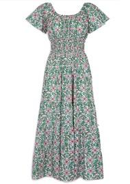 PINK CITY PRINTS Rah Rah Spanish Organic Cotton Dress - Retro Blush