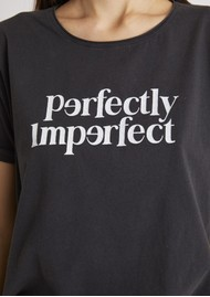 BERENICE Ethan Perfectly Imperfect Cotton Tee - Caviar