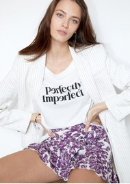BERENICE Ethan Perfectly Imperfect Cotton Tee - Off White