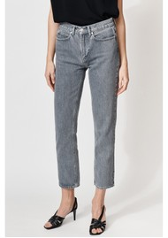 MAYLA Hedvig High Waisted Tapered 'Mom' Jeans - Washed Grey