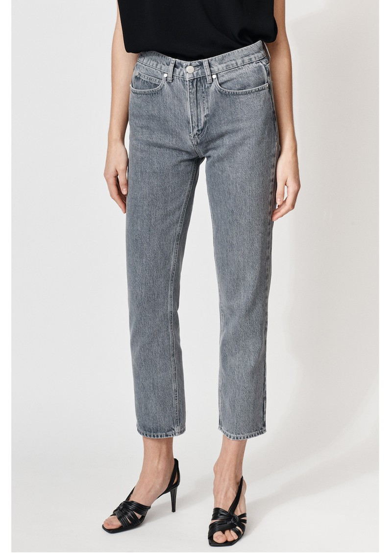 MAYLA Hedvig High Waisted Tapered 'Mom' Jeans - Washed Grey main image