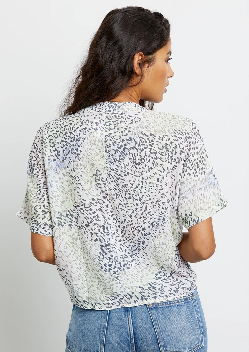 Thea Linen Mix Top - Rainbow Cheetah main image