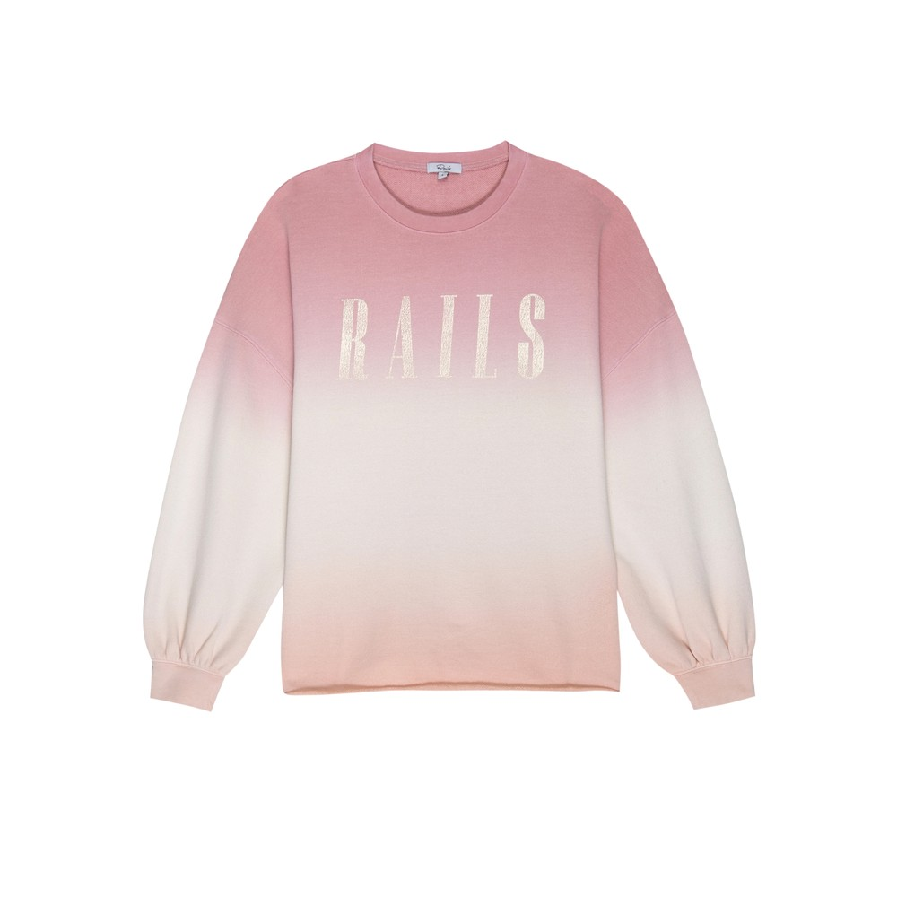 Rails Signature Sweatshirt - Pink Peach
