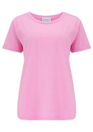 JUMPER 1234 Short Sleeve Crew Slub T-Shirt - Neon Pink