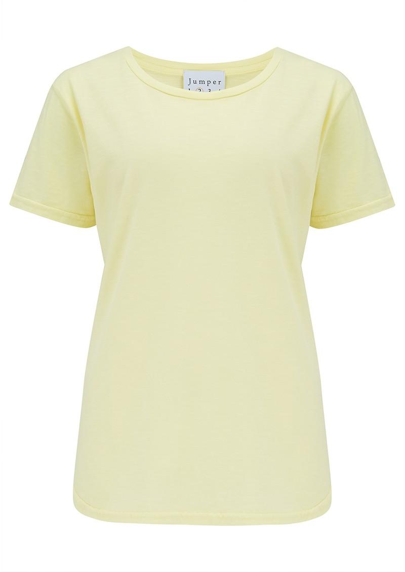JUMPER 1234 Short Sleeve Crew Slub T-Shirt - Neon Yellow main image