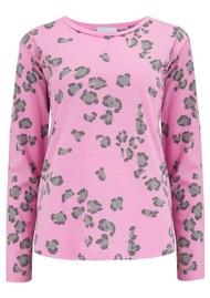 JUMPER 1234 Leopard Long Sleeve T-Shirt - Neon Pink