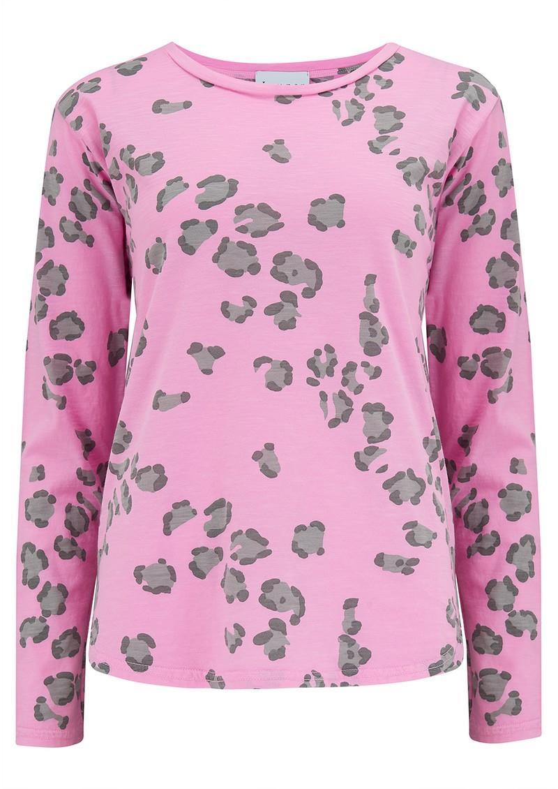 JUMPER 1234 Leopard Long Sleeve T-Shirt - Neon Pink main image