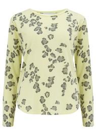 JUMPER 1234 Leopard Long Sleeve T-Shirt - Neon Yellow