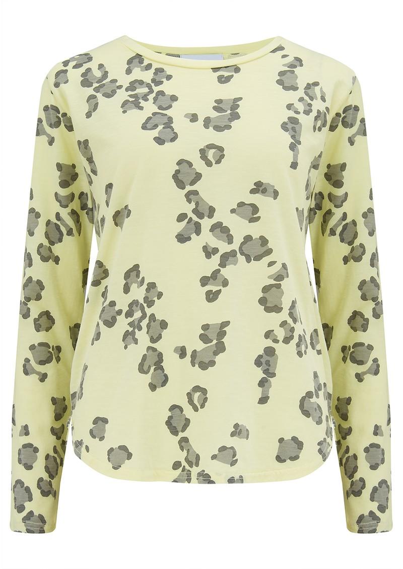 JUMPER 1234 Leopard Long Sleeve T-Shirt - Neon Yellow main image