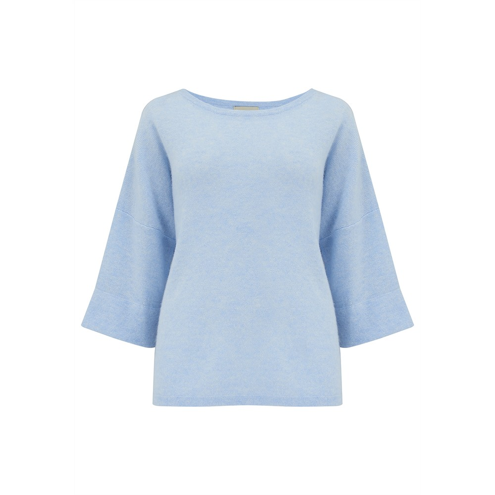 Boxy Cashmere Sweater - Sky Marl