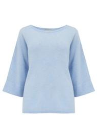 JUMPER 1234 Boxy Cashmere Sweater - Sky Marl