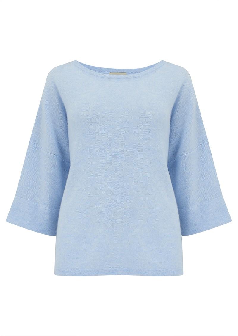 JUMPER 1234 Boxy Cashmere Sweater - Sky Marl main image