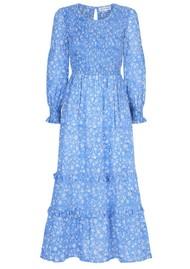 PINK CITY PRINTS Isabel Organic Cotton Dress - Cornflower