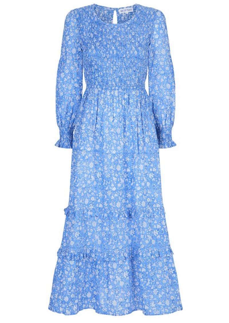 PINK CITY PRINTS Isabel Organic Cotton Dress - Cornflower main image