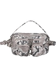 NUNOO Helena Small Leather Bag - White Snake