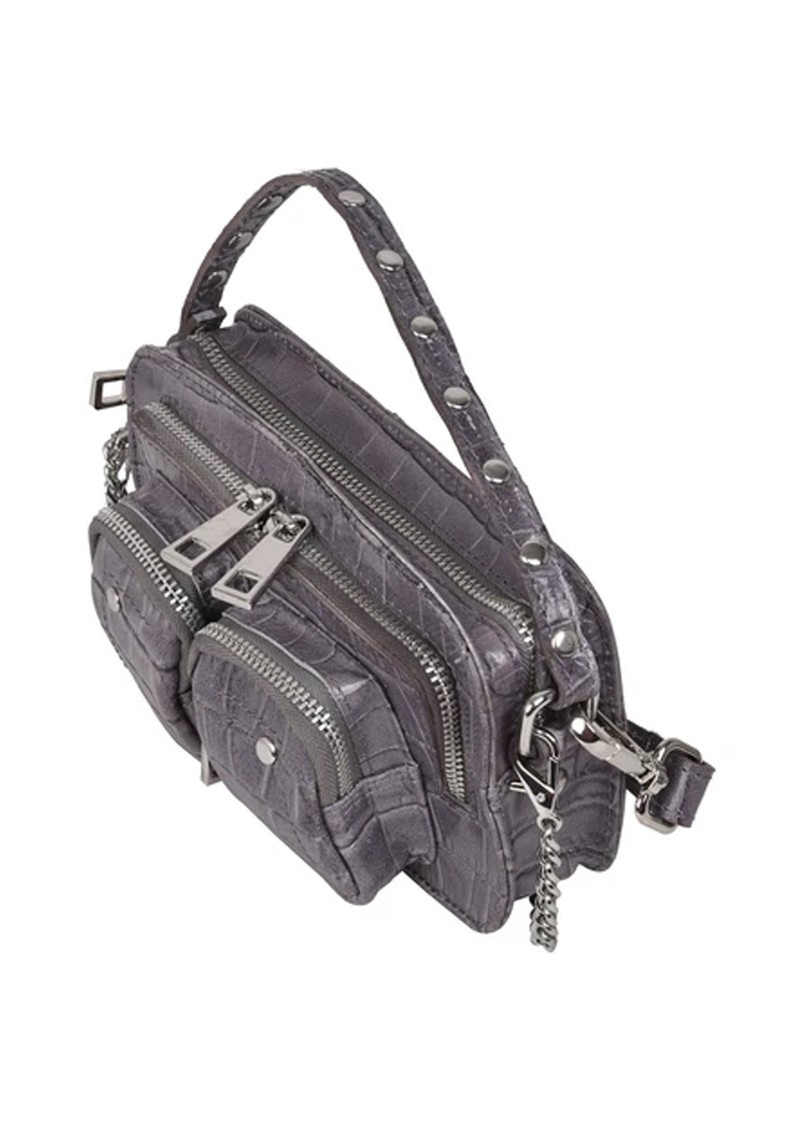 NUNOO Helena Croco Small Leather Bag - Dark Grey main image