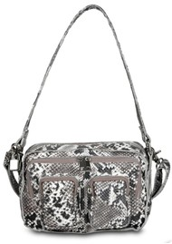 NUNOO Ellie Snake Leather Bag - White