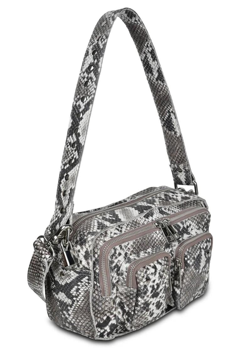 NUNOO Ellie Snake Leather Bag - White main image