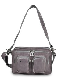 NUNOO Ellie Croco Bag - Dark Grey