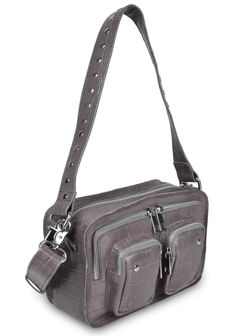 NUNOO Ellie Croco Bag - Dark Grey main image