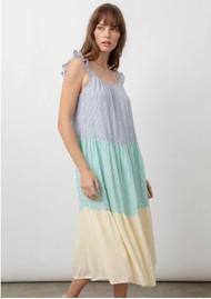 Rails Capri Linen Mix Dress - Rainbow Stripe