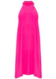Mercy Delta Bradley Halter Neck Silk Dress - Neon Pink