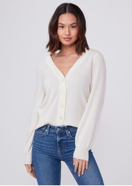 Paige Denim Valeria Cardigan Sweater - Ivory