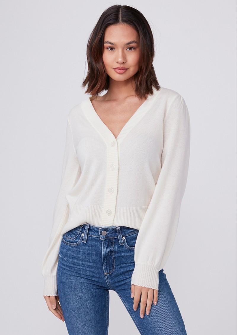 Paige Denim Valeria Cardigan Sweater - Ivory main image