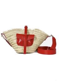 CRAIE Petit Panier Straw Bag - Kiss