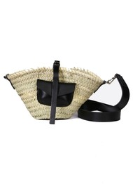 CRAIE Petit Panier Straw Bag - Black