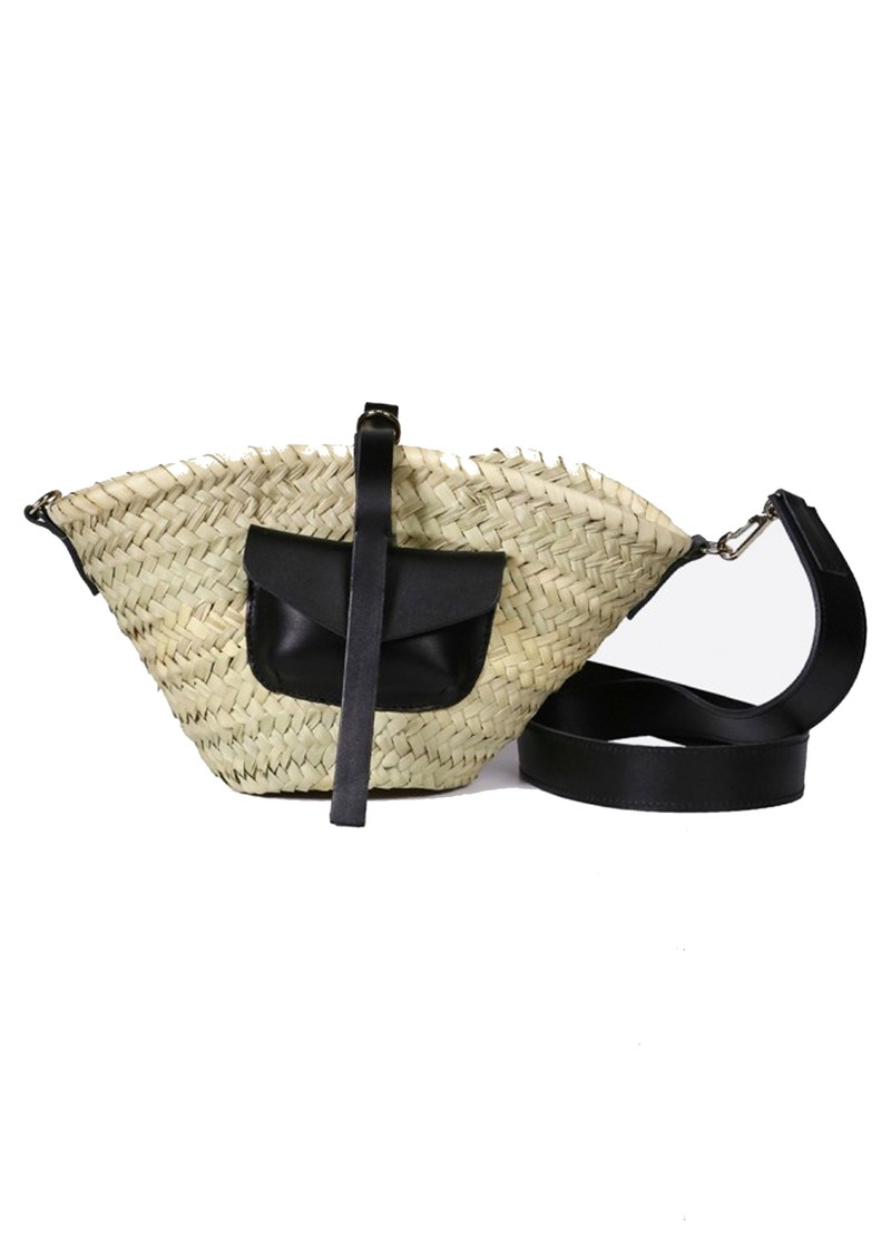 CRAIE Petit Panier Straw Bag - Black main image