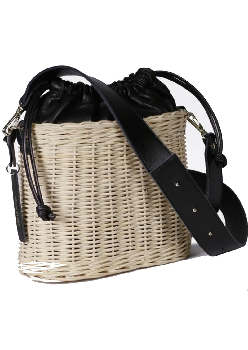 CRAIE Osier Basket Bag - Black main image