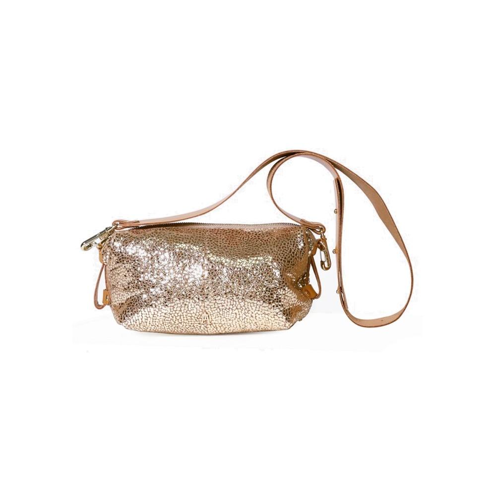 Doudoune Drop Leather Metallic Bag - Spring Or
