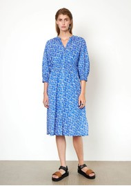 SECOND FEMALE Dayly Organic Cotton Dress - Ultra Marine