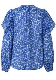 SECOND FEMALE Dayly Organic Cotton Shirt - Ultra Marine