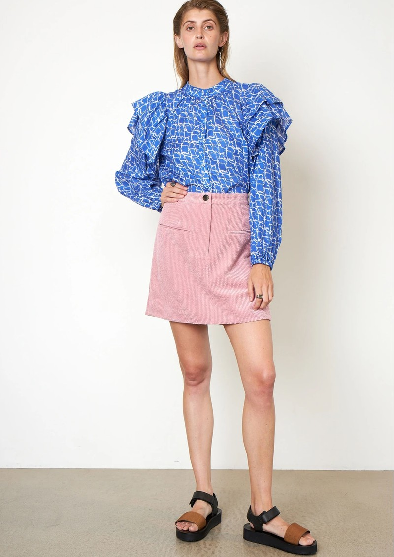SECOND FEMALE Dayly Organic Cotton Shirt - Ultra Marine main image
