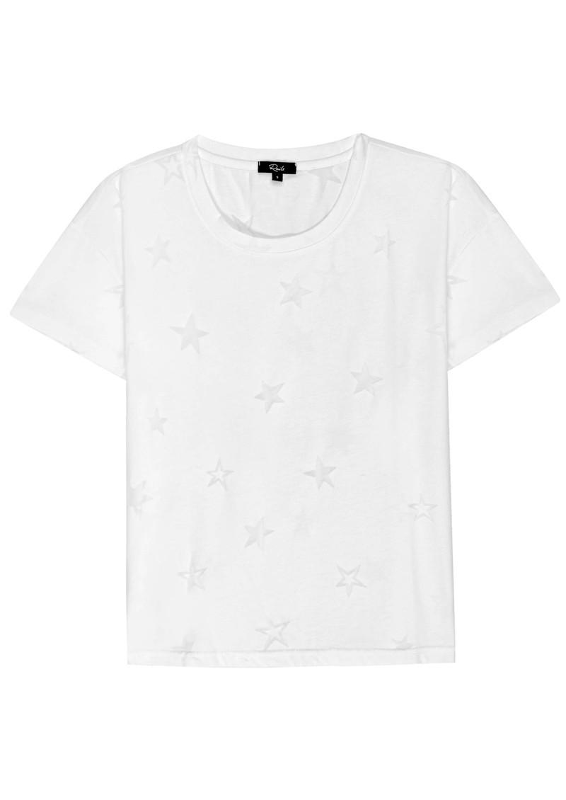 Rails The Classic Crew Cotton Mix Tee - White Star Burnout main image