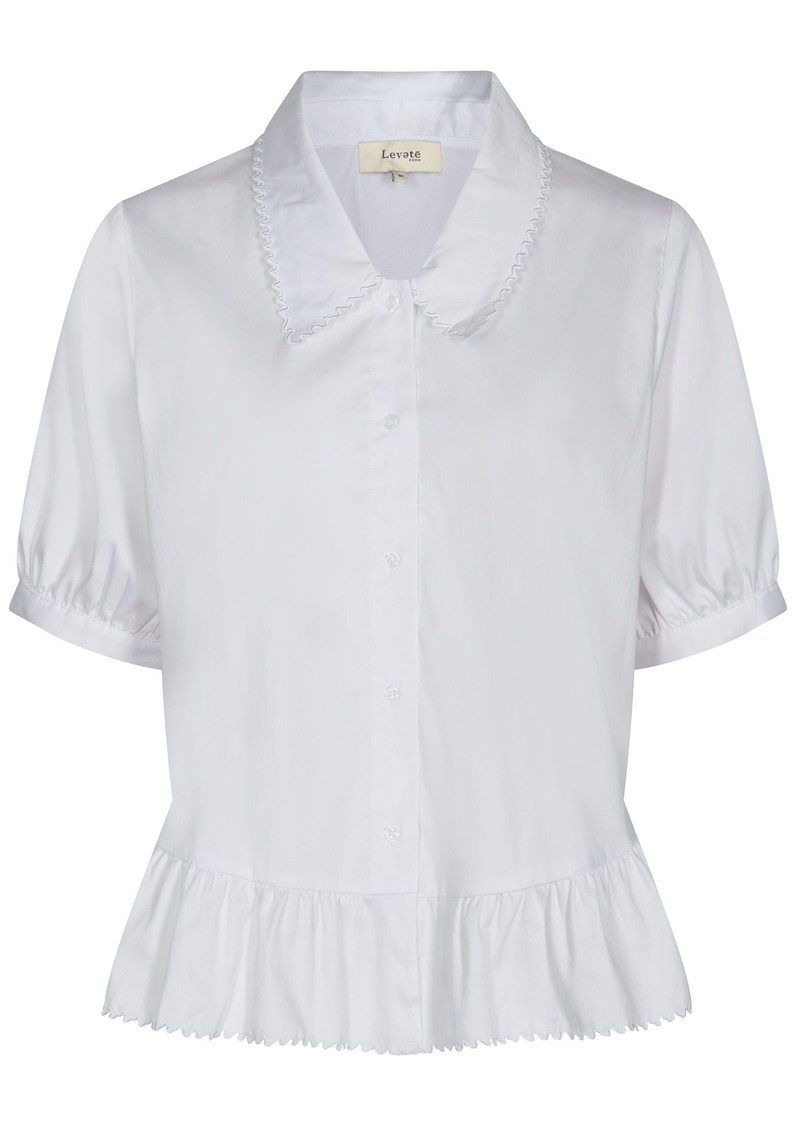 LEVETE ROOM Isla Solid 22 Shirt - White main image