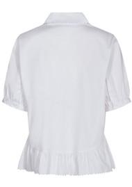 LEVETE ROOM Isla Solid 22 Shirt - White
