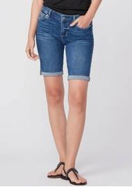 Paige Denim Jax Knee Denim Shorts - Lorenza