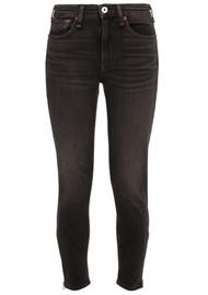 RAG & BONE Cate Mid Rise Ankle Skinny Jeans with Zips - Highland