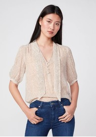 Paige Denim Esta Silk Blouse - Birch Multi