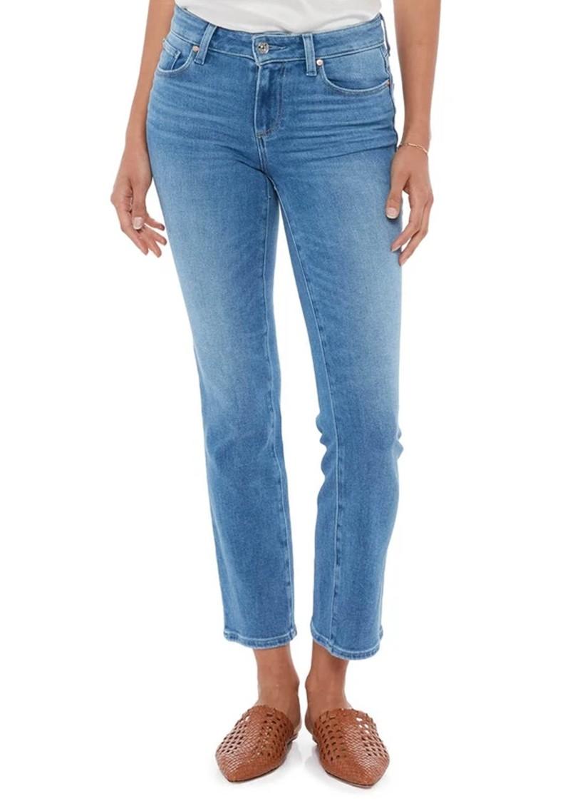 Paige Denim Amber Mid Rise Straight Leg Jeans - Sea Water Distressed main image
