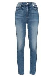 Paige Denim Sarah Slim High Rise Slim Leg Jeans - Embarcadero