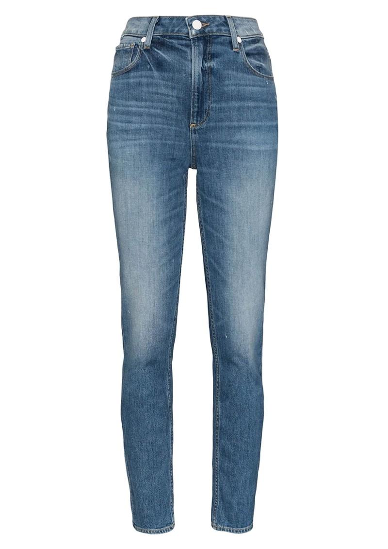 Paige Denim Sarah Slim High Rise Slim Leg Jeans - Embarcadero main image