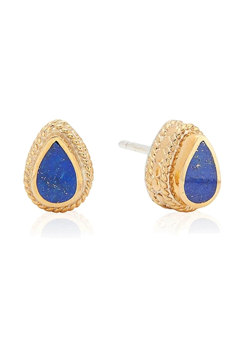 ANNA BECK Lapis Teardrop Stud Earrings - Gold main image